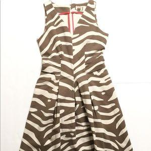 Banana Republic Fit & Flare 4P Striped Dress Mid